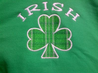 Picture of McKay's Irish Plaid Shamrock Hooded Sweatshirt (SB052)