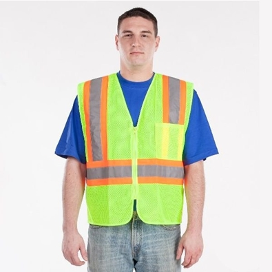 Picture of Utility ProWear Men's Mesh Vest with Contrast Stripes