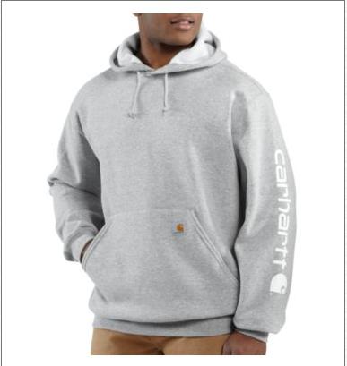 7c221aeb9 ... Picture of Carhartt Men's Midweight Hooded Logo Sweatshirt (K288) ...