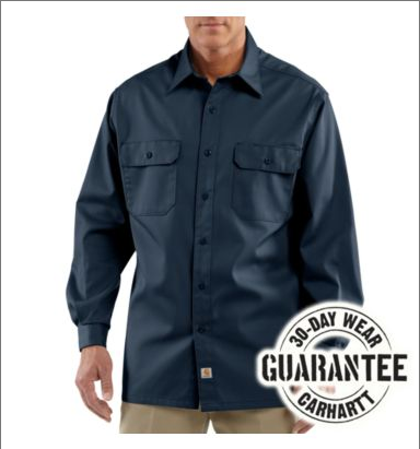 22942ad67765 ... Picture of Carhartt Men s Long - Sleeve Twill Work Shirt (S224) ...