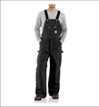 Picture of Carhartt Men's Duck Zip - to -Thigh Bib Overall / Quilt Lined (R41)