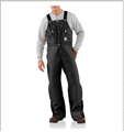 Picture of Carhartt Men's Duck Zip - to - Waist Biberall / Quilt Lined (R38)
