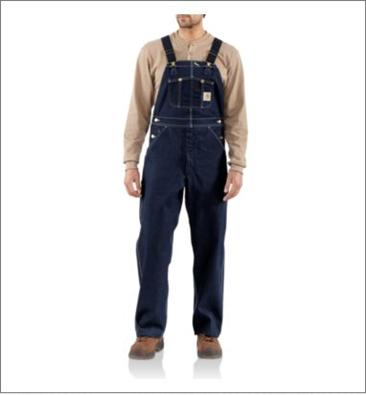 Picture of Carhartt Men's Denim Bib Overall / Unlined (R08)