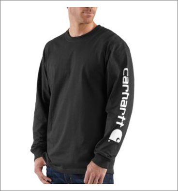 Picture of Carhartt Men's Long - Sleeve Graphic Logo T- Shirt (K231)