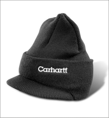 Picture of Carhartt Men s Knit Hat with Visor (A164) a24ad97dd48