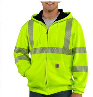 Picture of Carhartt Men's High - Visibility Thermal - Lined Hooded Sweatshirt - Class 3 (100504)