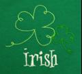 Picture of McKay's Left Chest Irish Double Shamrock (LC7)