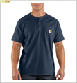 Picture of Carhartt Men's Force Cotton Short Sleeve T - Shirt Henley (100413)