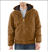 Picture of Carhartt Men's Quilted - Flannel Lined Sandstone Active Jac (J130)