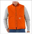 Picture of Carhartt Men's Duck Vest / Arctic - Quilt Lined (V01-BLZ)