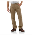 Picture of Carhartt Men's Canvas Khaki Relaxed Fit Pant (B299)