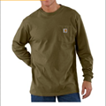 Picture of Carhartt Men's Long - Sleeve Workwear Pocket T - Shirt (K126)