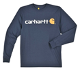 Picture of Carhartt Men's Long - Sleeve Signature Logo T- Shirt (K298)