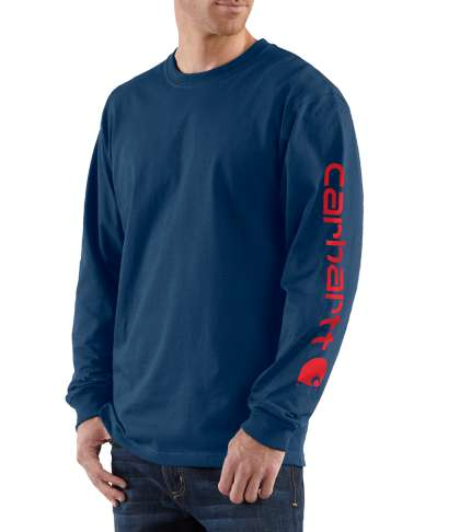 09c3e2337 ... Picture of Carhartt Men's Long - Sleeve Graphic Logo T- Shirt (K231) ...