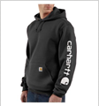 Picture of Carhartt Men's Midweight Hooded Logo Sweatshirt (K288)