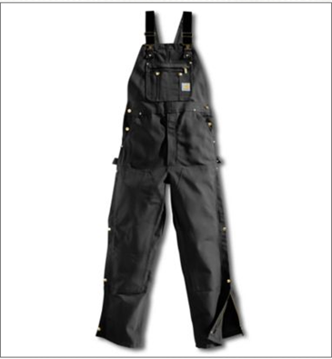Picture of Carhartt Men's Duck Zip - to - Thigh Bib Overall / Unlined (R37)